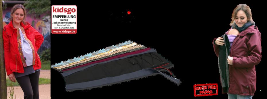 Kumja Jackenerweiterungen - statt Umstandsjacke und Tragejacke
