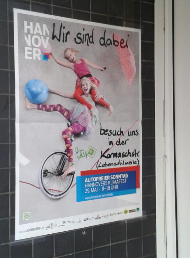 Autofreier Sonntag Plakat